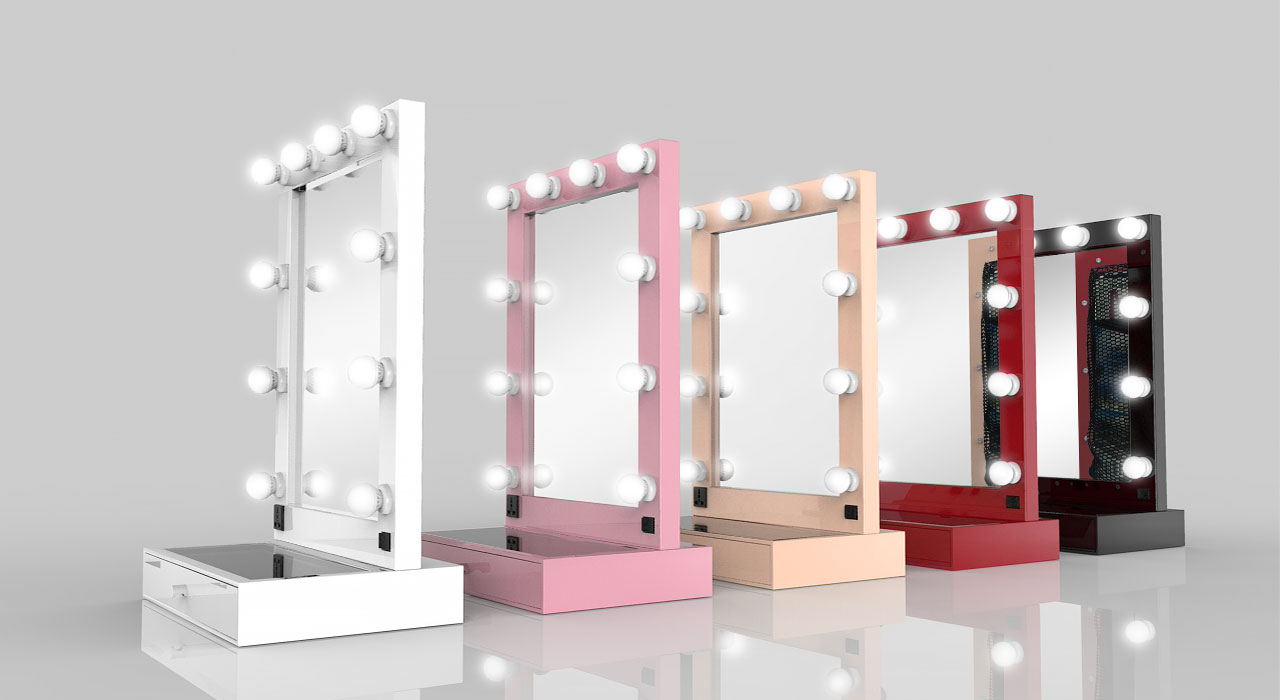hollywood tabletop mirror with drawer tm 150 grand. Black Bedroom Furniture Sets. Home Design Ideas