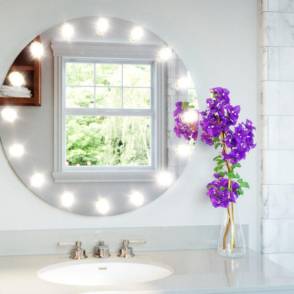 round hollywood mirror. hollywood mirror round - grand mirrors inc. official website : e
