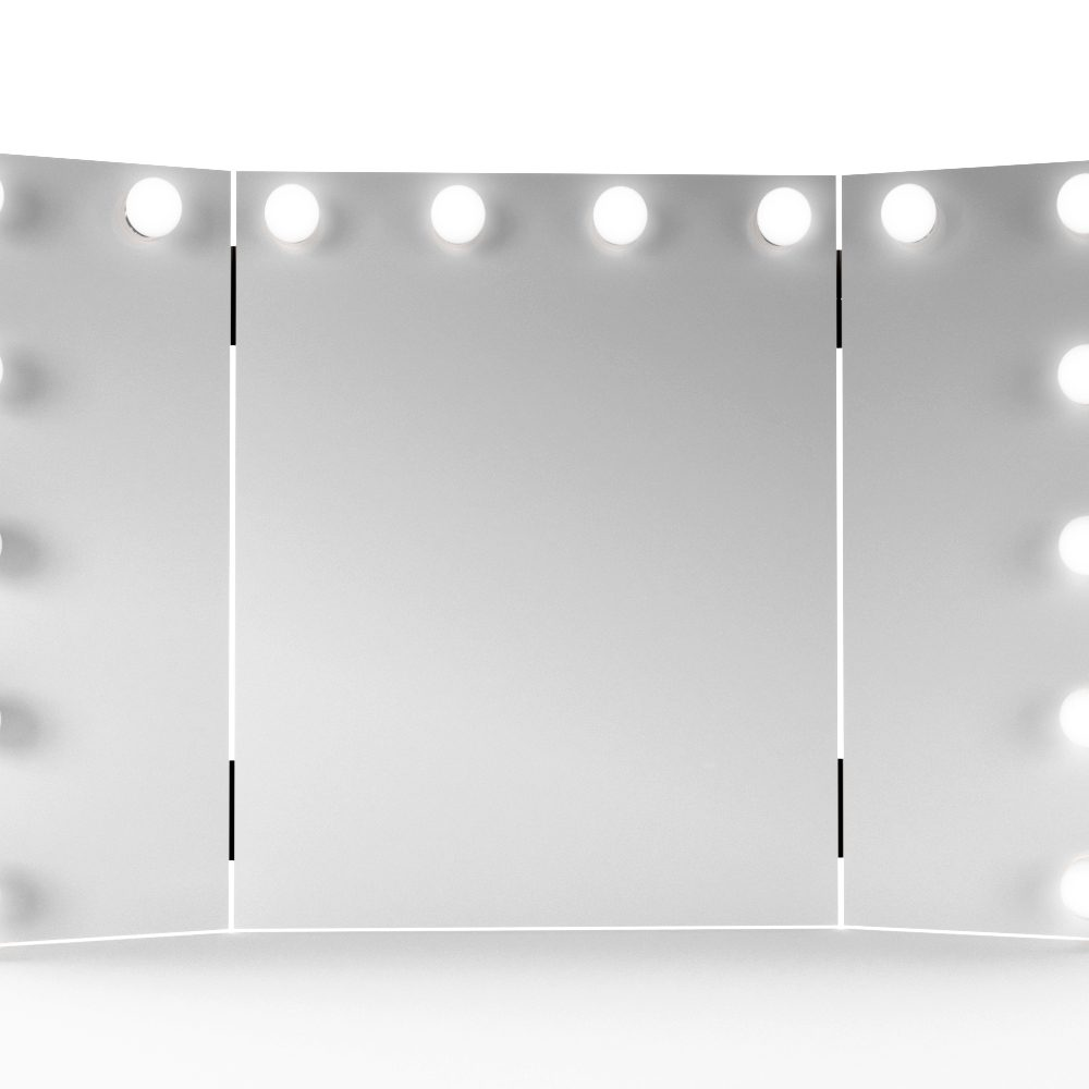 asani tri fold lighted makeup mirror w 22 led