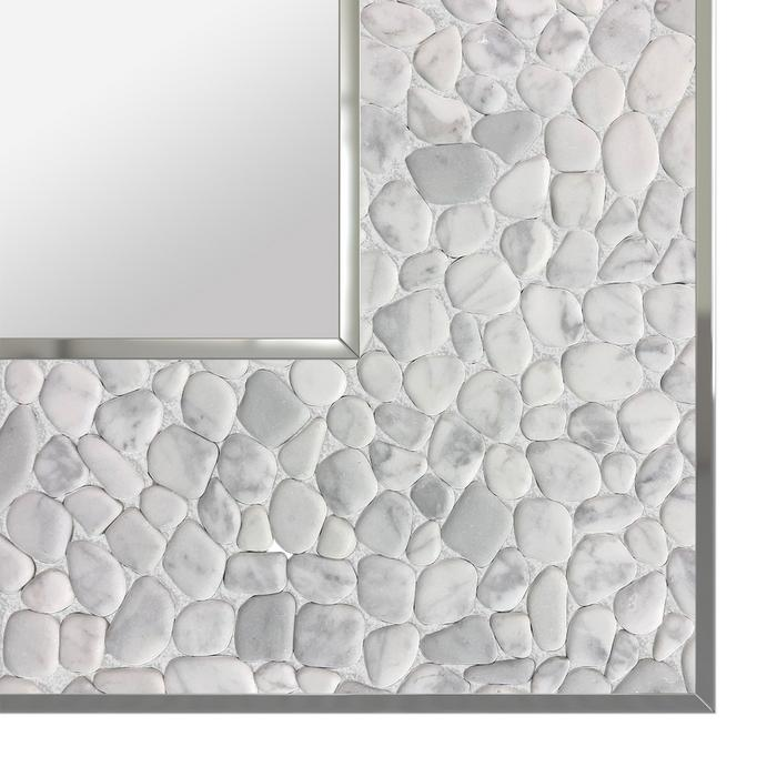 White stone glittered mirror